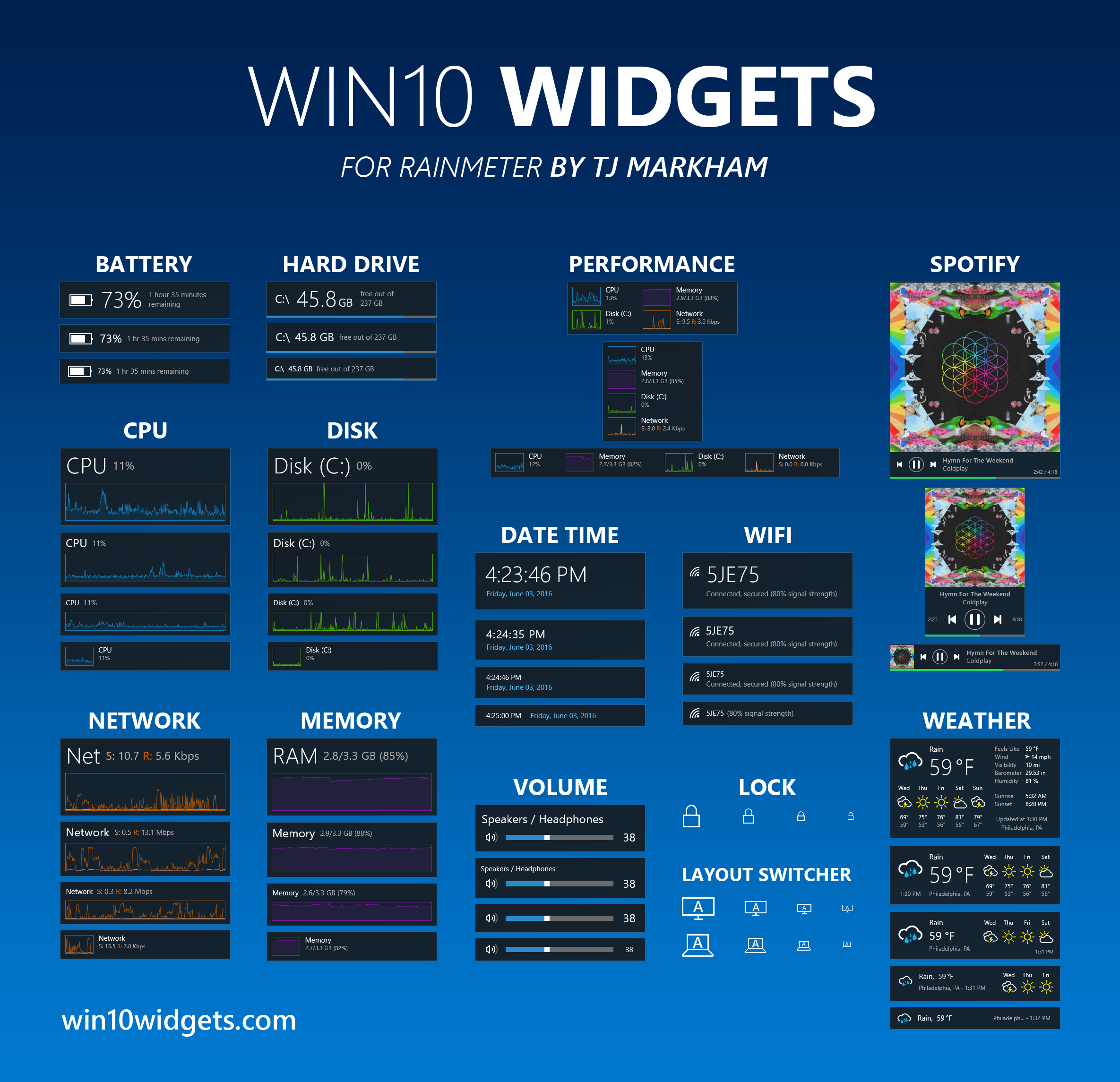 Win10 Widgets - Widgets for Windows 10
