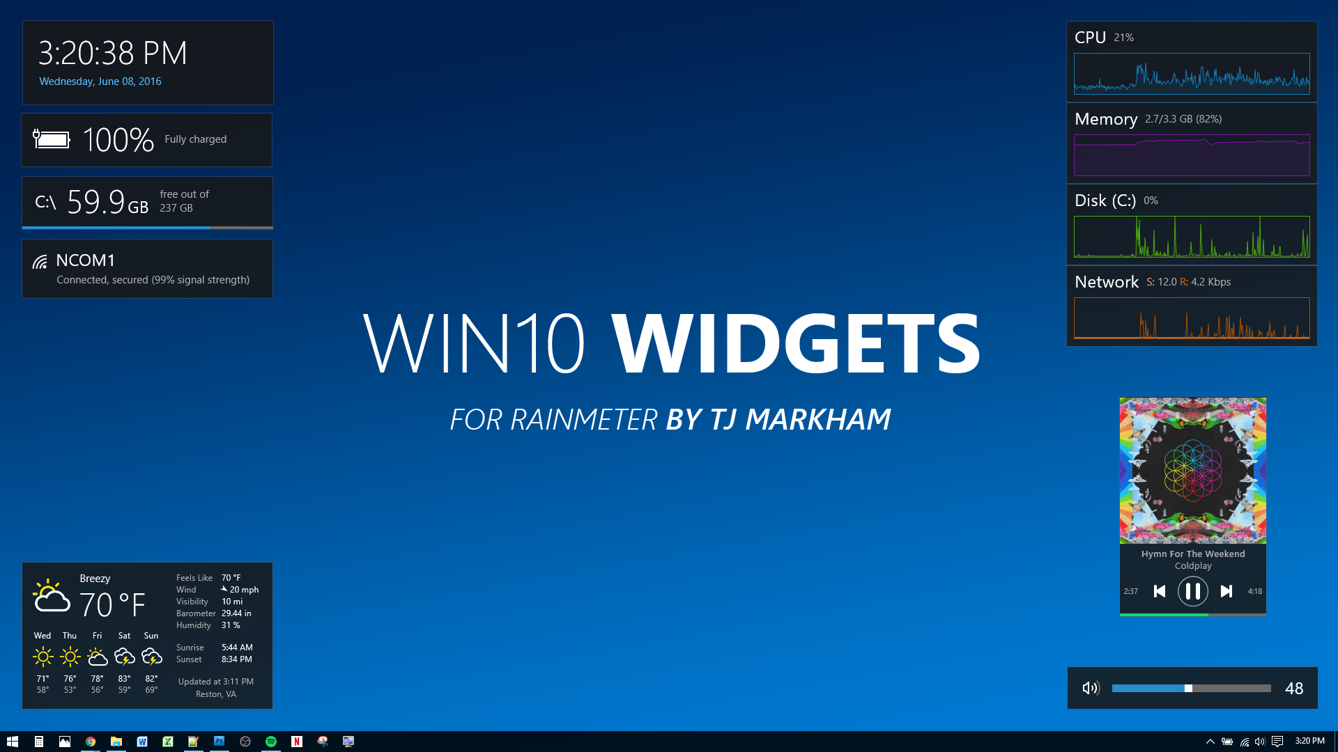 Calendario Windows 10 Su Desktop.Win10 Widgets Widgets For Windows 10